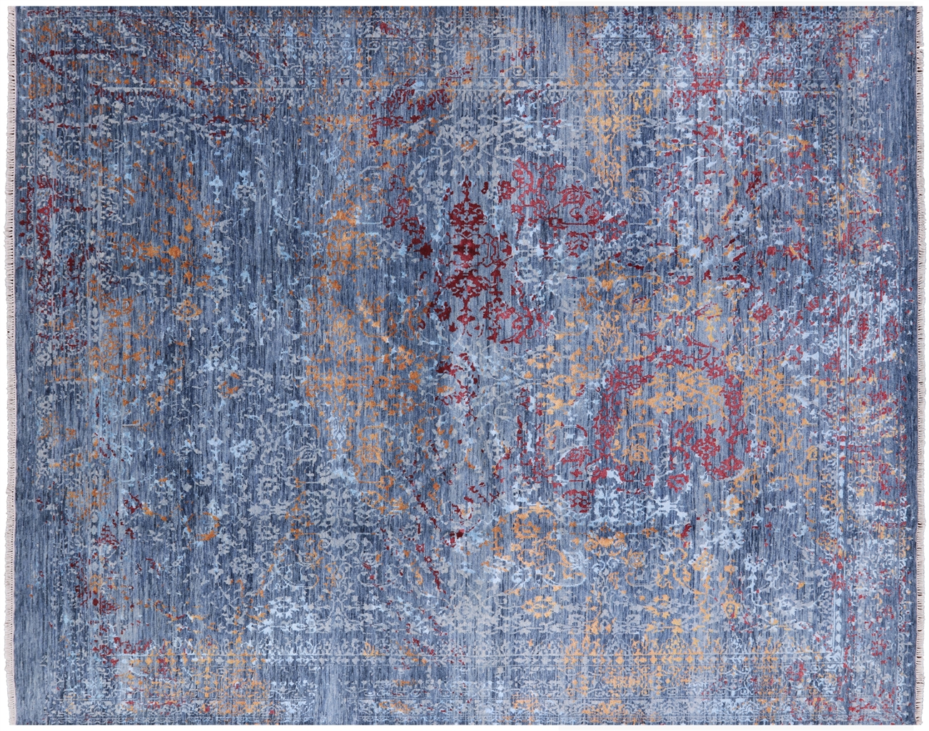 8 X 10 Contemporary Hand Knotted Wool Silk Persian Area Rug