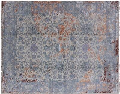 Handmade Persian Wool & Silk Area Rug