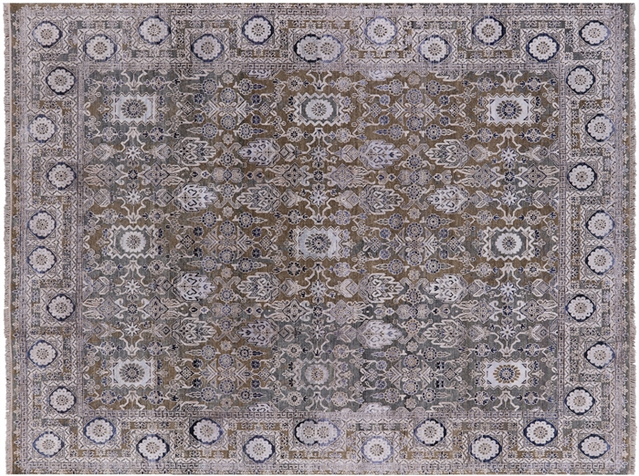 Pure Silk With Oxidized Wool Modern Oriental Area Rug