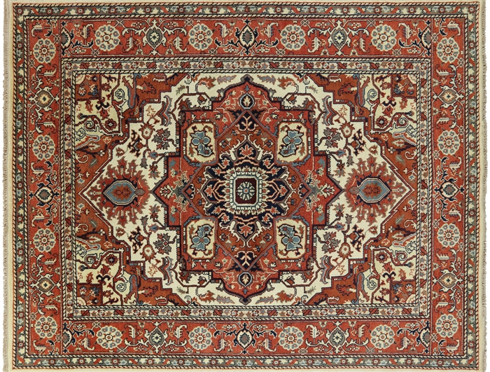 Heriz Hand Knotted Oriental Area Rug