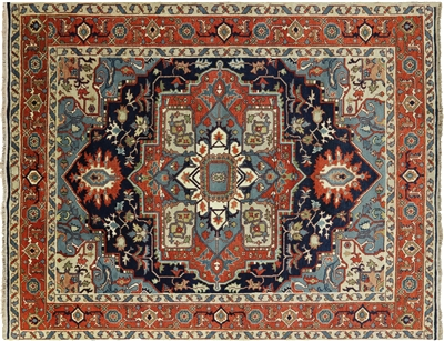 Hand Knotted Oriental Heriz Area Rug