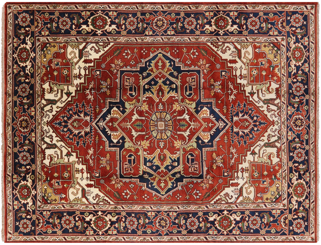 9 X 12 Traditional Heriz Hand Knotted Oriental Rug