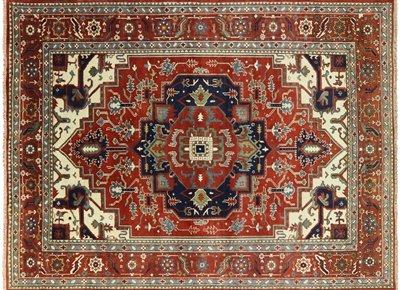 Oriental Heriz Hand Knotted Area Rug