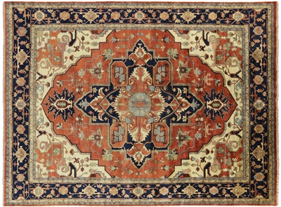 Hand Knotted Heriz Oriental Rug