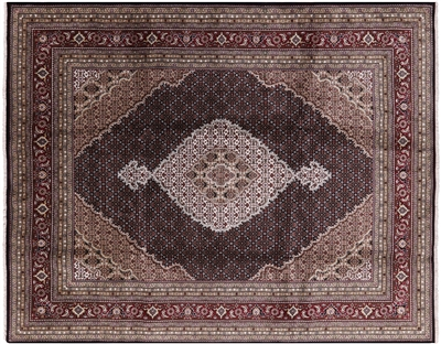 Tabriz Wool & Silk Hand Knotted Area Rug