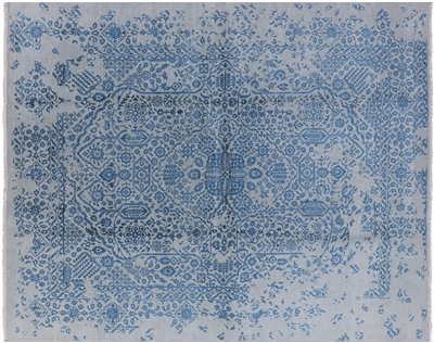 Wool & Silk Oriental Hand Knotted Rug