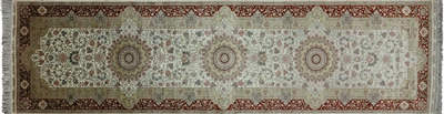 Runner Hand Knotted Persian High End 100% Silk Rug