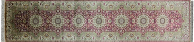 Runner Persian High End 100% Silk Hand Knotted Rug