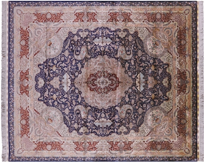 Hand Knotted 100% Silk High End Persian Area Rug