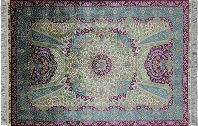 Persian 100% Silk High End Hand Knotted Area Rug