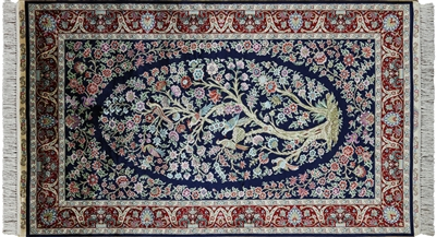 Tree Of Life High End Persian 100% Silk Rug