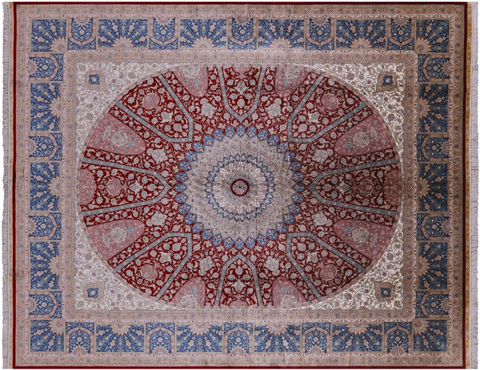 Hand Knotted High End 100% Silk Persian Area Rug