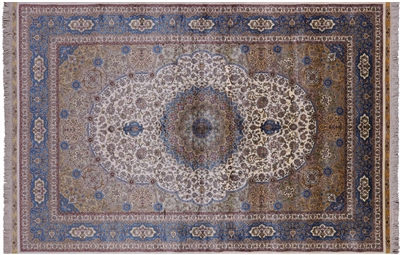 Hand Knotted High End Persian 100% Silk Rug