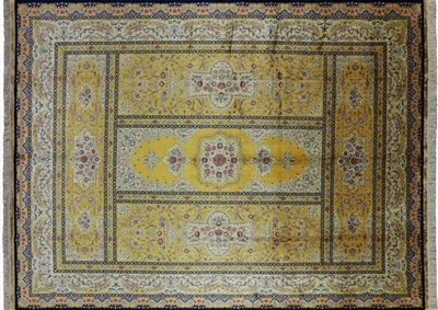 Signed Persian 100% Silk High End Handmade Rug