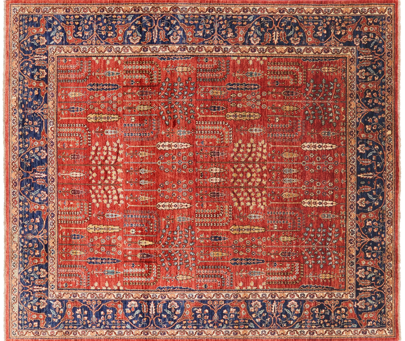 8 X 10 Persian Ziegler Hand Knotted Wool Oriental Rug