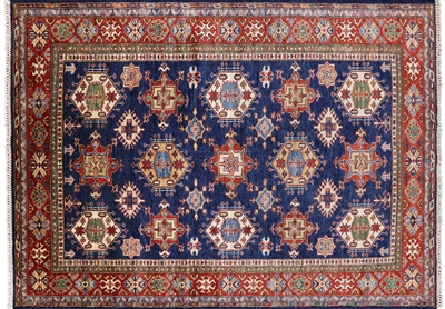 Super Kazak Wool Area Rug