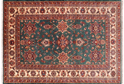 Handmade Wool Super Kazak Area Rug