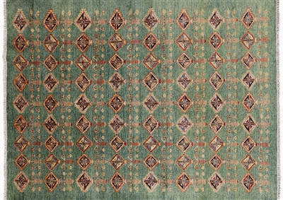 Tribal Super Kazak Hand Knotted Area Rug
