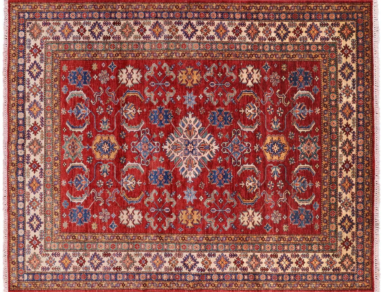 6 7 X 8 0 Super Kazak Hand Knotted Wool Area Rug