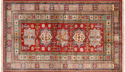 Super Kazak Geometric Rug