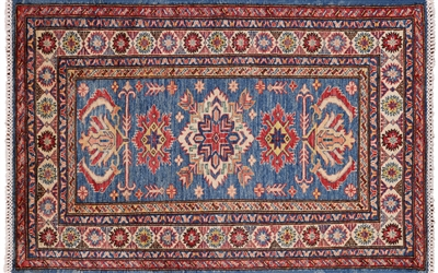 Hand Knotted Super Kazak Area Rug
