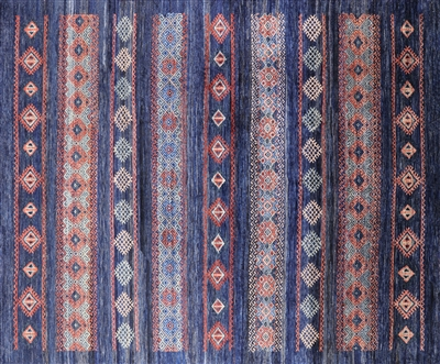 Hand Knotted Southwest Navajo Wool Area Rug