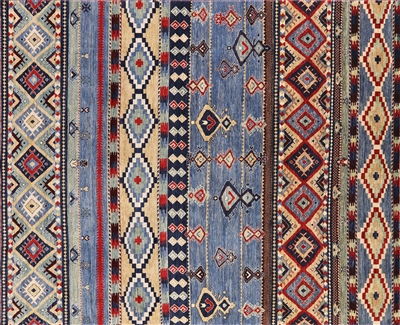 Southwest Navajo Hand Knotted Wool Area Rug