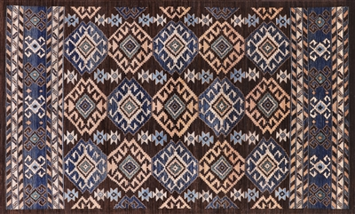 Hand Knotted Wool Southwest Navajo Rug