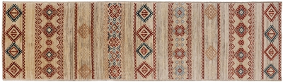 Runner Southwest Navajo Hand Knotted Wool Rug