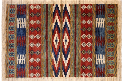 Hand Knotted Southwest Navajo Wool Rug