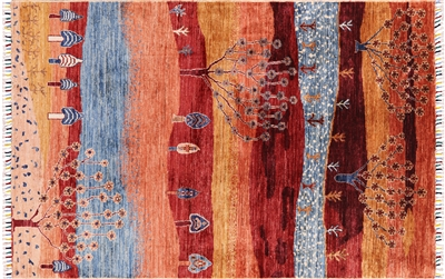 Super Gabbeh Lori Buft Hand Knotted Area Rug