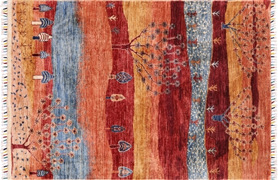 Hand Knotted Super Gabbeh Lori Buft Area Rug