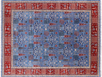 Hand Knotted Wool Persian Ziegler Area Rug