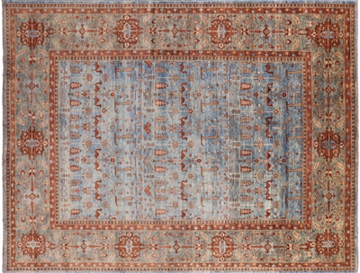 Fine Serapi Hand Knotted Wool Area Rug