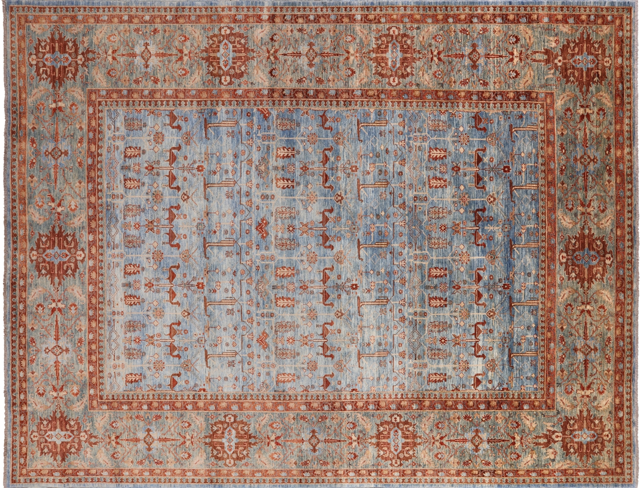 Fine Serapi Hand Knotted Wool Area Rug 11 X 14 P9328