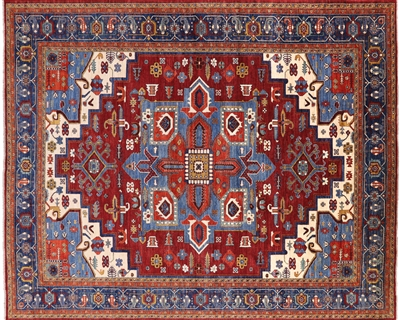 Traditional Fine Serapi Hand Knotted Wool Rug