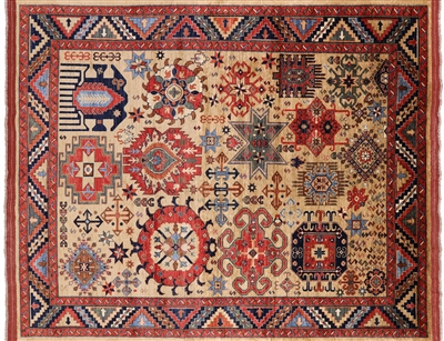 Hand Knotted Fine Turkmen Area Rug