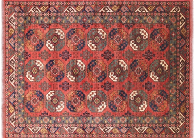 Traditional Ersari Hand Knotted Oriental Area Rug