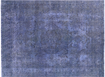 Overdyed Oriental Wool Area Rug