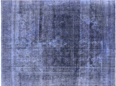 Overdyed Hand Knotted Wool Area Rug