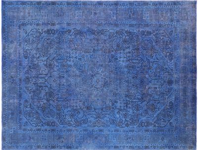 Oriental Overdyed Wool Area Rug