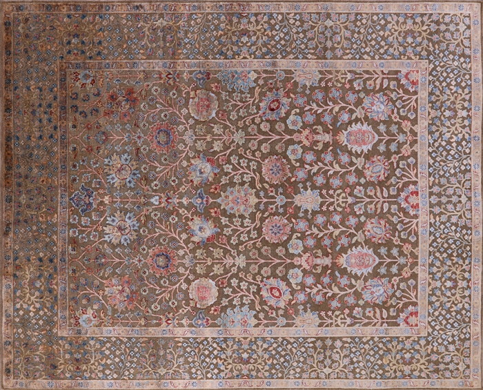 Silk With Oxidized Wool Rug
