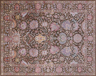 Silk With Oxidized Wool Handmade Area Rug
