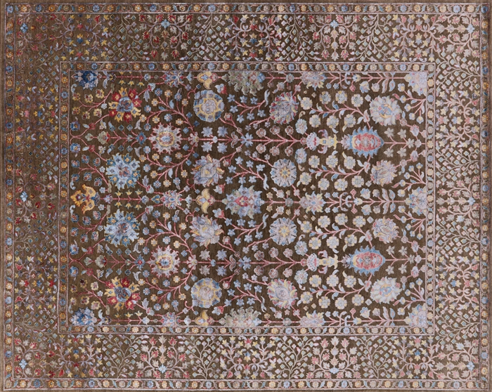 Persian Silk With Oxidized Wool Hand Knotted Area Rug