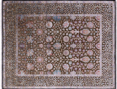 Silk With Oxidized Wool Hand Knotted Area Rug