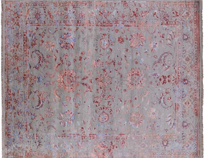 Wool & Silk Hand Knotted Area Rug
