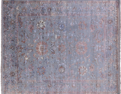Hand Knotted Modern Wool & Silk Area Rug
