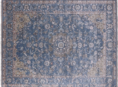 Modern Wool & Silk Hand Knotted Area Rug