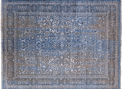 Persian Hand Knotted Wool & Silk Area Rug