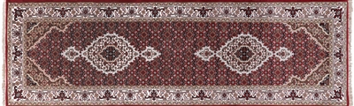 Persian Tabriz Wool & Silk Runner Rug